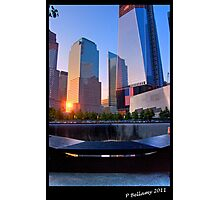 New York 911 Memorial Sunset Photographic Print