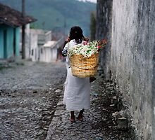 Basket of Flowers for a Troubled World by Larry Turner