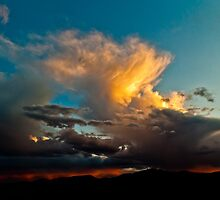 Sunset Thunderstorm Over The Front Range by SeanCH