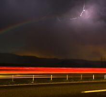 """MOONBOW AND LIGHTNING (""""Rainbow in the Dark"""") by George Trimmer"""