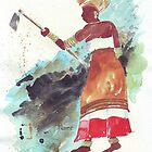 Xhosa Woman hoeing by Maree Clarkson