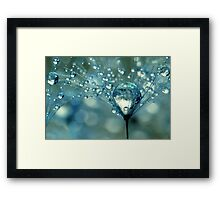 Blue Sparkles Framed Print