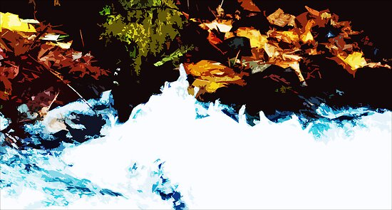 """River Side"" - Edited photo from mountains around Portland, OR by Mikle"