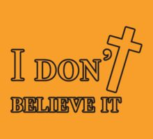 I don't believe it by Matthew Jones