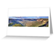 Simply Iresistable - Govetts Leap, Blue Mountains, Sydney (30 Exposure HDR Panorama) - The HDR Experience Greeting Card