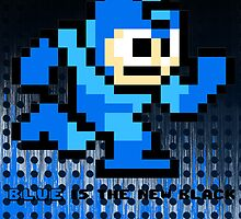 "Megaman ""Blue is the new Black"" by ajf89"