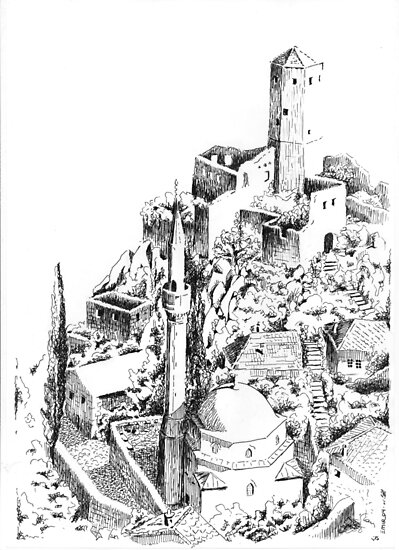 Pocitelj, the last fort in the south by Emir Isovic