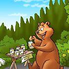 A very very happy bear by Emir Isovic
