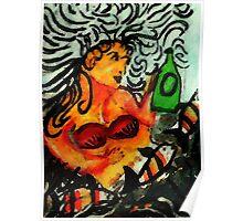 Mermaid. watercolor Poster