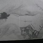 nude lady pencil portrait by koolautos