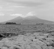 Mount Vesuvius at dusk by Hollyis