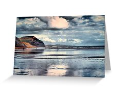 Low Tide at Charmouth Greeting Card