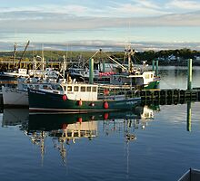 Boats tied up at Digby Wharf by Shonda Hogan