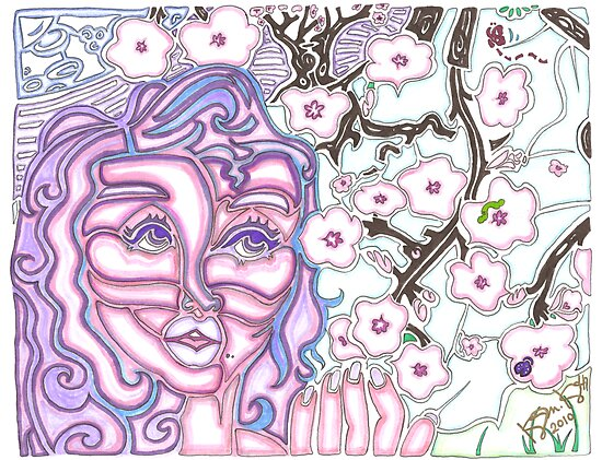 'Alight with Blossom' ~ Original Pieces Art™ by Kayla Napua Kong