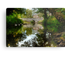"""Bridge over the river Clun"" Metal Print"