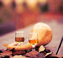 Wine in autumn by Krisztian Sipos