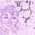 &#x27;Alight with Blossom ~ Intended Purple&#x27; Pieces Art by Kayla Napua Kong
