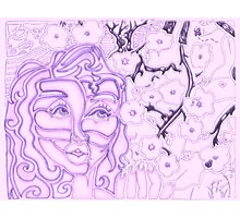 'Alight with Blossom ~ Intended Purple' Pieces Art™ Photographic Print