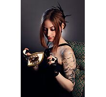 Tattooed Beauty Photographic Print