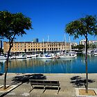 Barcelona Docks Sea Scape by rosalie photography