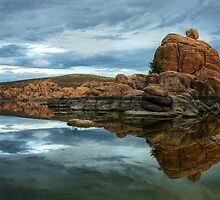 Storm Clouds Over Watson Lake by Diana Graves Photography