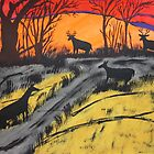 Sunset Bucks by JeffreyKoss