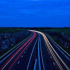 Car Light Trails  by John  Carey