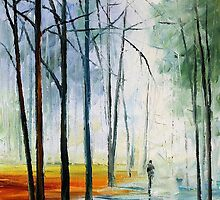 FOGGY PATH - LEONID AFREMOV by Leonid  Afremov
