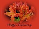 Anniversary Card - Orange Azaleas by MotherNature