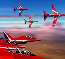 Red Arrows by Bob Martin