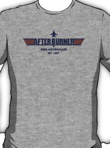 After Burner Top Gun Blue Logo Mashup Homage T-Shirt