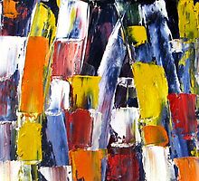Twinkles of Light - An Abstract Oil Painting 2008 by Andrei Mundrea