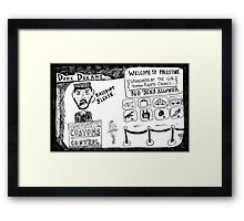 Dark Dream - Welcome to Palestine Framed Print