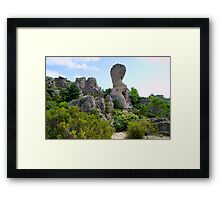 Cirque de Mourèze, Rocky Mountains in France Framed Print