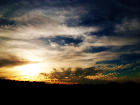 Textures in the sky... by Laura-Lise Wong