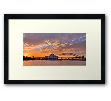 Sunset Sydney Harbour - Australia Framed Print