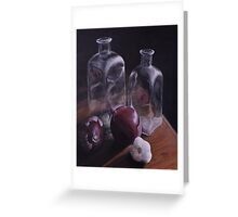 Glass and Onions Greeting Card