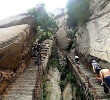 The path, Hua Shan, Shaanxi by DaveLambert