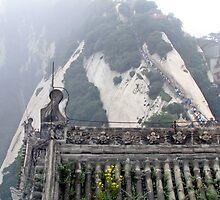 Crowded path, Hua Shan, Shaanxi by DaveLambert