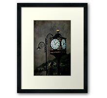Lighting up Time Framed Print