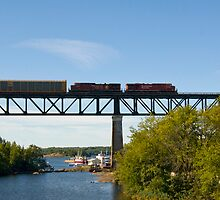 Canadian pacific seen at Parry Sound. by sandyprints