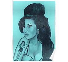 Amy Winehouse celebrity portrait. Poster