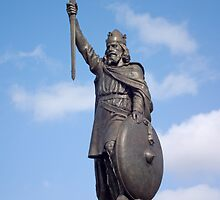 Statue of King Alfred the Great, Winchester, UK, also available on a T-shirt by Philip Mitchell