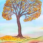Autumn Tree by Caroline  Lembke