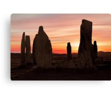 Ancient Scottish Standing Stones Canvas Print