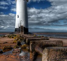 Talacre Light House by Adrian Evans