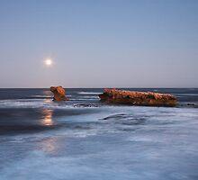 Moonset by David Haworth