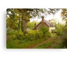 Cottages at Ashclyst ... Canvas Print