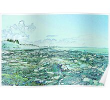 Seascape in Blue Poster