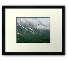Misty Mountain Realm Framed Print